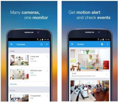 features of video surveillance ivideon app