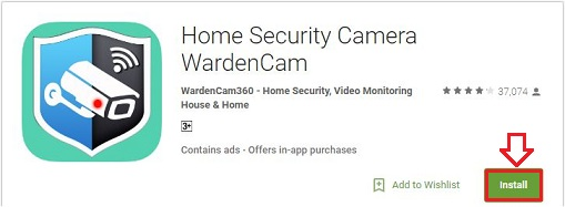 install home security camera wardencam app